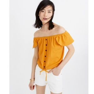 NWT Madewell Texture & Thread Off The Shoulder Top